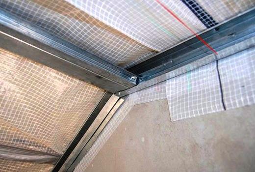 Металлический каркас на потолок