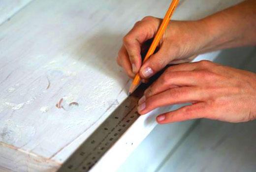 Разметка лестницы перед покраской