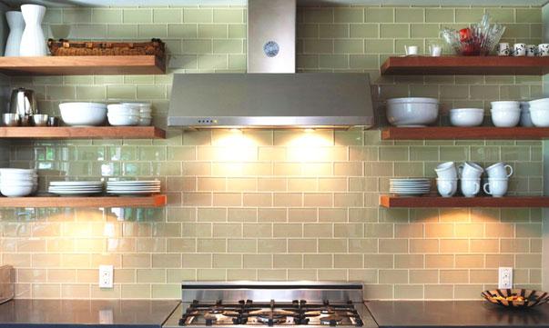 Отделка плиткой кухни