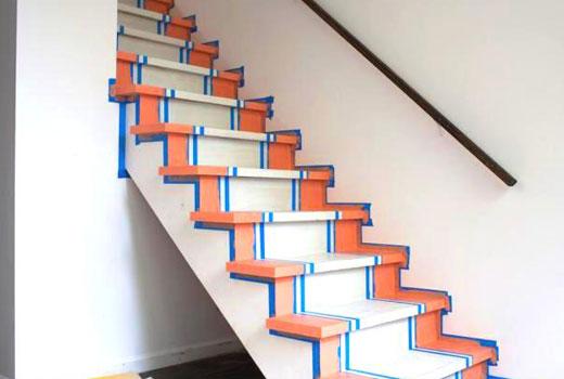 Окрашивание лестницы