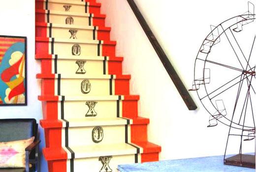 Лестница покраска