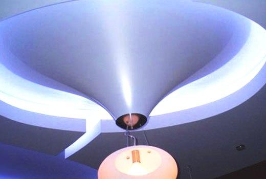 Натяжной потолок конус