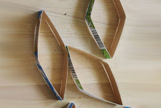 Ромбики из картона