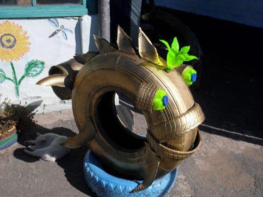 рыбка из шины