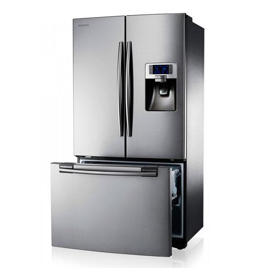 вмятина на холодильнике