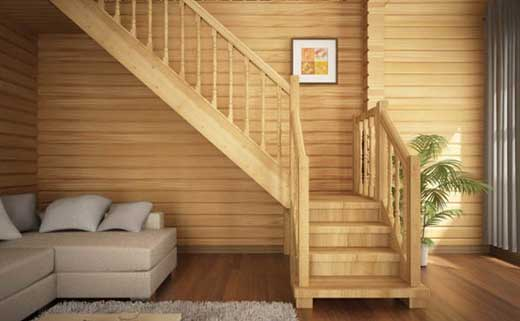 дереванная лестница для дома