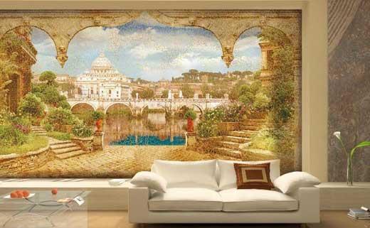 отделка стен фреска