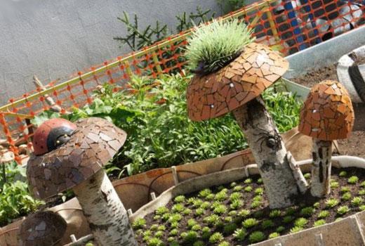 грибы мозаика