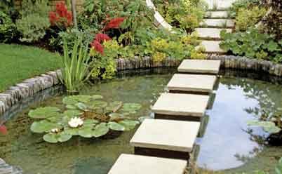 водоем с бетонным основанием