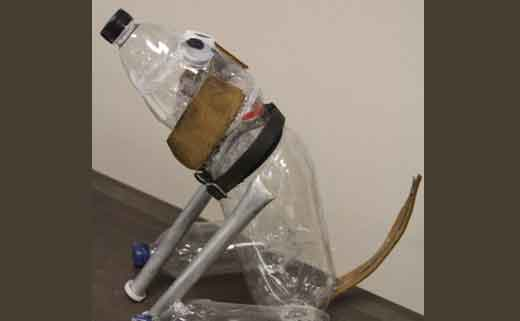 поделка из пластиковых бутылок собака