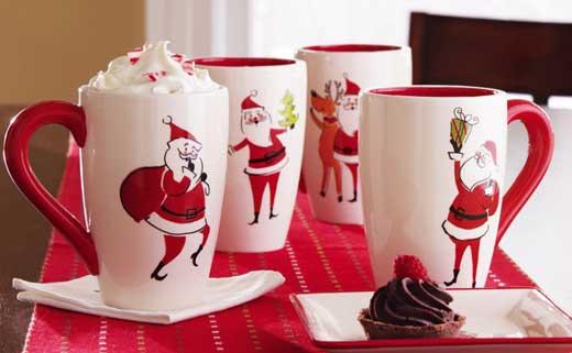 чашки новый год