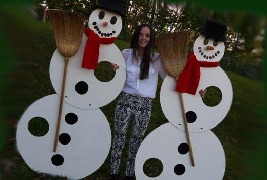 снеговики из фанеры