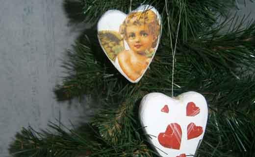 игрушки сердца на елку