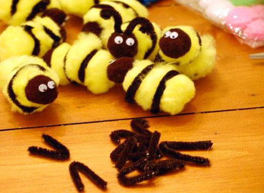 мягкие пчелки своими руками