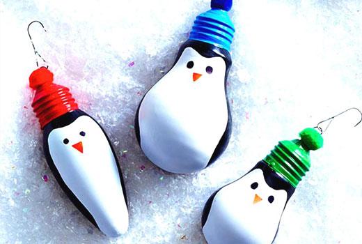 пингвины новогодние