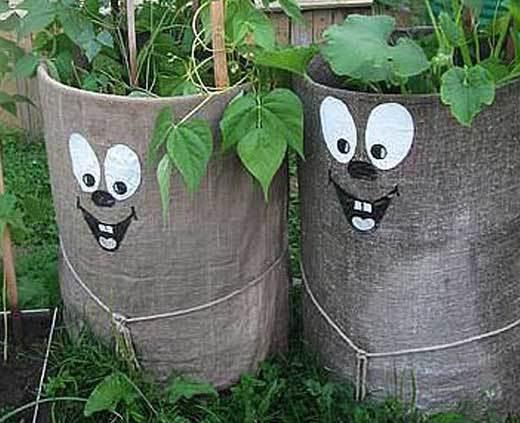 бочки в саду