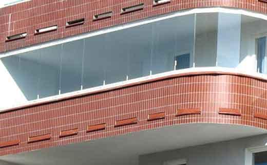 балкон безрамное остекление