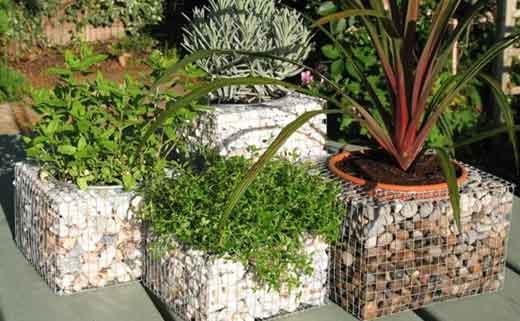 садовые габионы