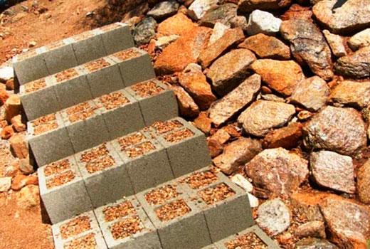 лестница уличная из блоков