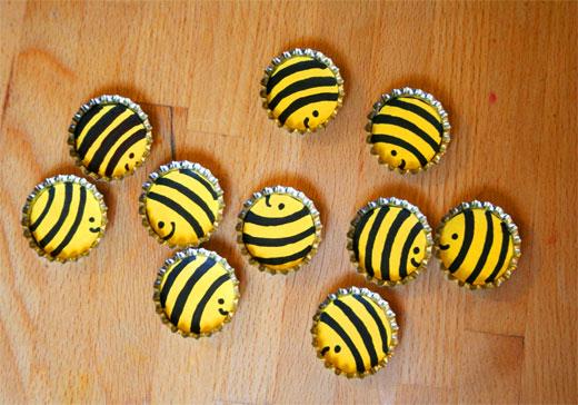 пчелки из крышек