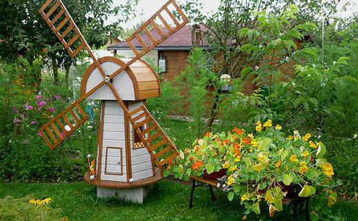мельница в саду