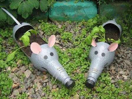 крыски из пластиковых бутылок