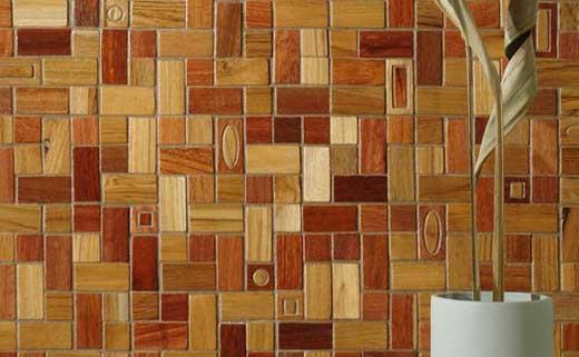 деревянная плитка облицовка