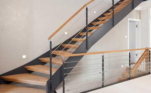 Лестница на второй этаж конструкции