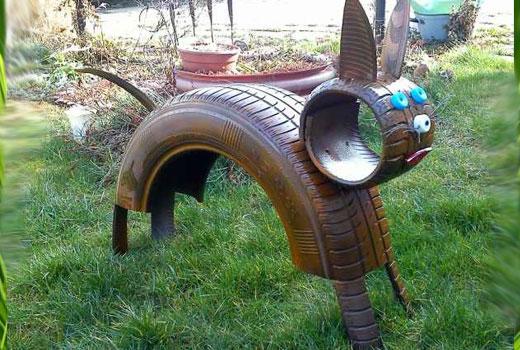 кошка из шины