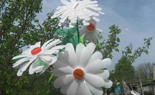 Поделки своими руками из бутылок цветок