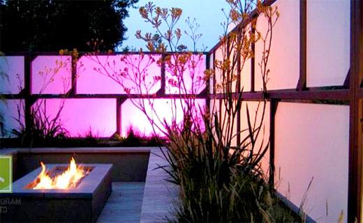 Забор с подсветкой