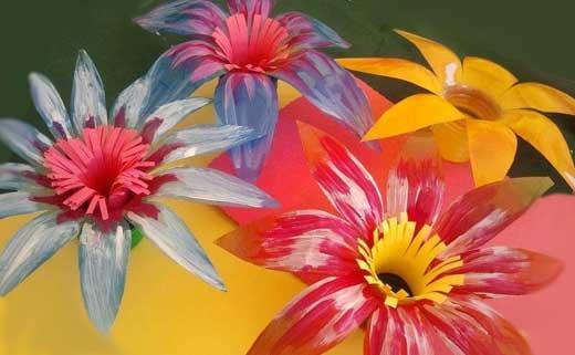 покраска цветов из пластика