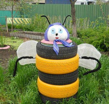 Пчелка своими руками для сада
