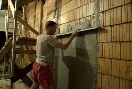 как ровно поштукатурить стены