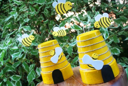 Пчелки для сада своими руками