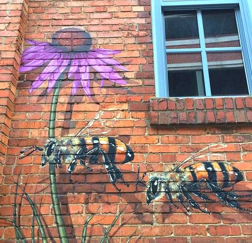 пчелки граффити