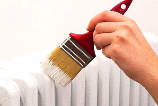 покрасить горячие батареи