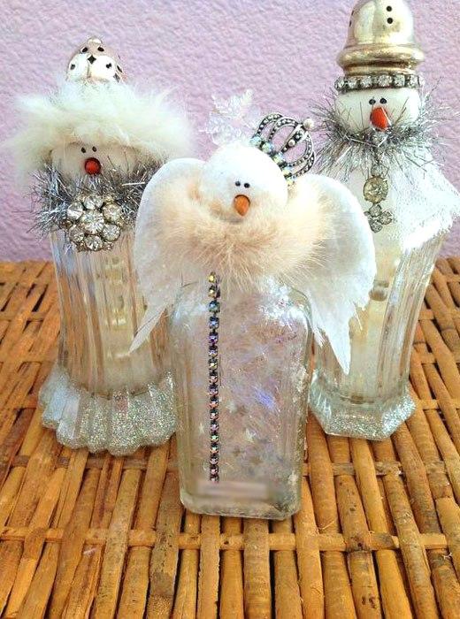 Как сделать ангелочков снеговичков