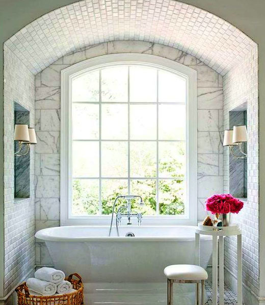 арка в ванной прованс