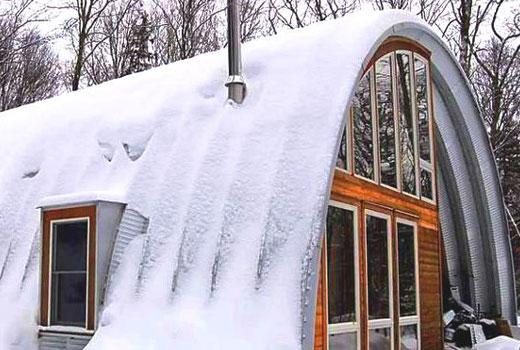 дом арка зима