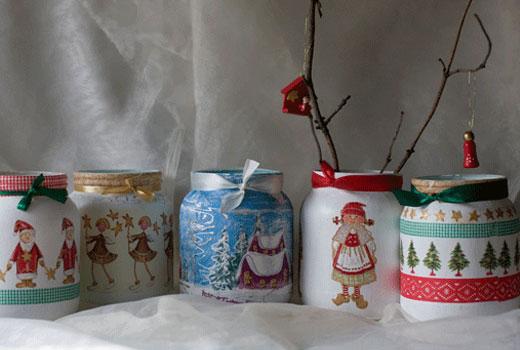 вазочки из баночек