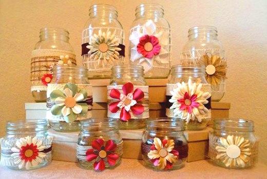 цветочки на вазочках