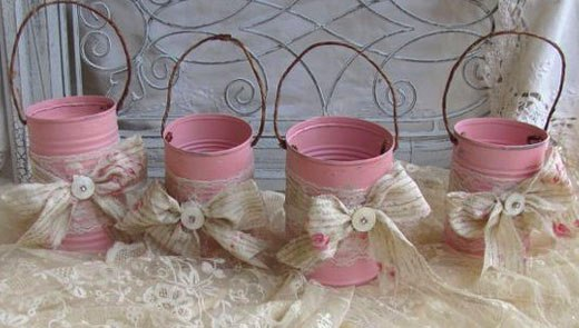 бантики на вазочках