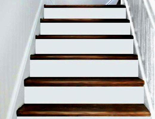 белые подступенки лестницы