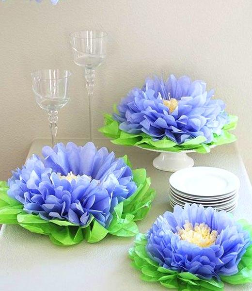 цветы из бумаги на праздник