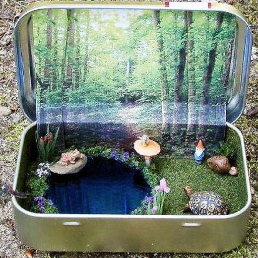 мини сад в чемодане