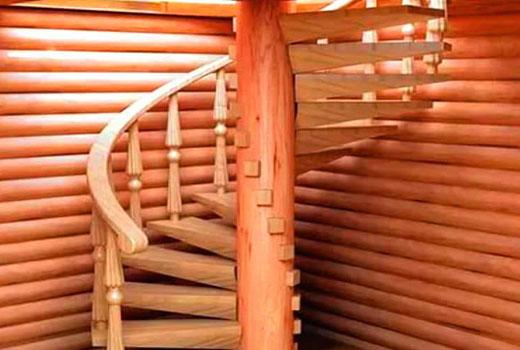Винтовые лестницы своими руками из дерева фото7