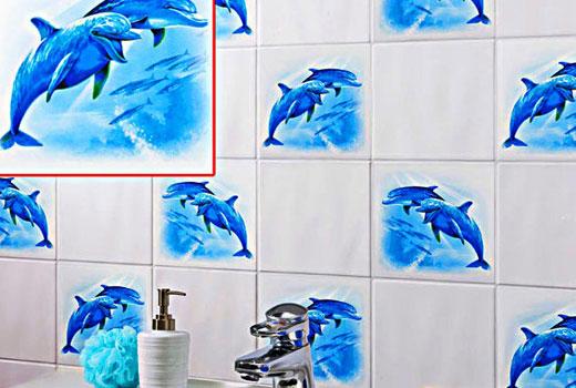 дельфины наклейки