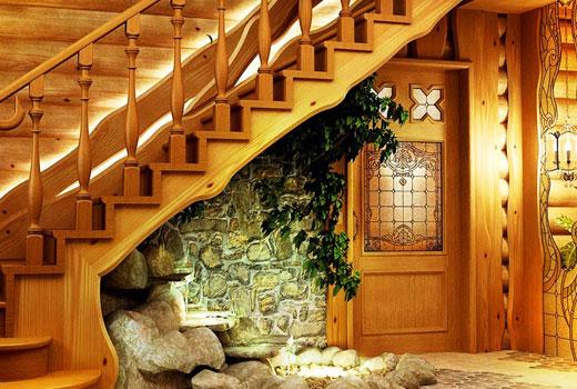 лестница дерево 6