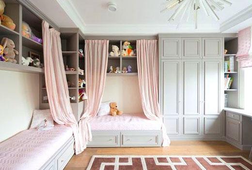 угловые кровати с занавесками